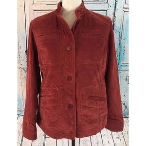 L.L. Bean Corduroy Jacket Sz S Maroon Red